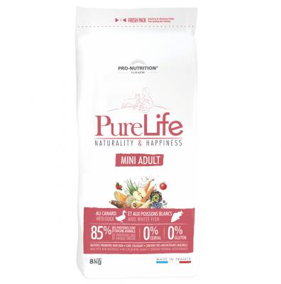 Храна за кучета от дребни породи Pro-Nutrition Flatazor PureLife Mini Adult, без зърнени храни, две разфасовки