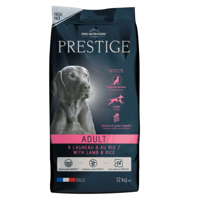 Храна за пораснали кучета от всички породи Flatazor Prestige Adult Lamb & Rice, с агнешко месо и ориз, две разфасовки