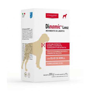 Хранителна добавка за здрави стави при кучета от големи породи Dynamopet Dìnamic Large, 20брх10гр