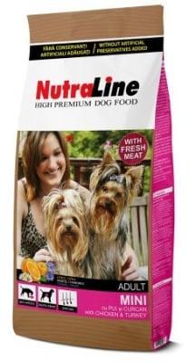 """""""Nutraline Dog MINI ADULT"""" - Храна за зрели кучета от дребни породи"""
