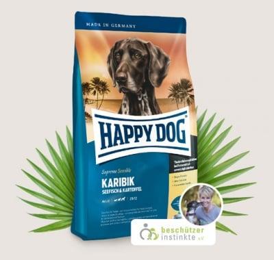 Храна за кучета Happy Dog Супер Премиум Карибик с Морска риба, картофи и банани - три разфасовки