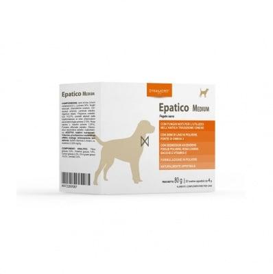 Хранителна добавка за кучета от средни породи Dynamopet Epatico, насърчава физиологичните пречистващи функции на тялото, 20брх4гр