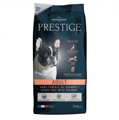 Храна за чувствителни кучета и/или такива с непоносимост към зърнени храни или глутен Flatazor Prestige Adult CEREAL FREE with SALMON, със сьомга, две разфасовки