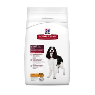 """""""Science Pla Canine Adult Advаnce Fitness Medium Chicken"""" – Пълноценна храна с пилешко за кучета от средни породи с умерени енергийни нужди"""