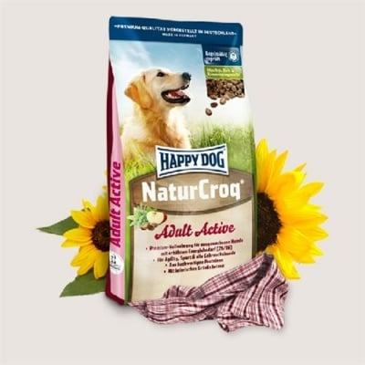 Happy Dog – Nature Croq Active - Пълноценна балансирана храна за енергични, работни и спортни кучета - 15.00кг