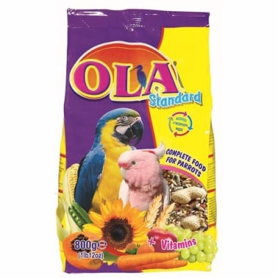 Храна за голям папагал OLA Standard, 800 гр