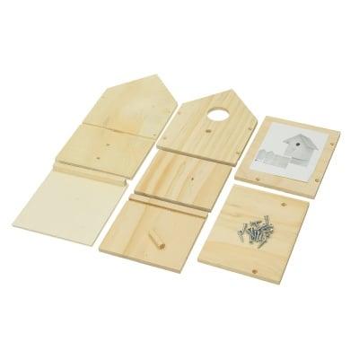 Къщичка за птици, строителен комплект, правоъгълна, 15 x 13 x 23 cm, h24