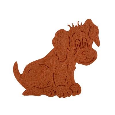 Деко фигурка куче, Filz, 50 mm, светлокафявио