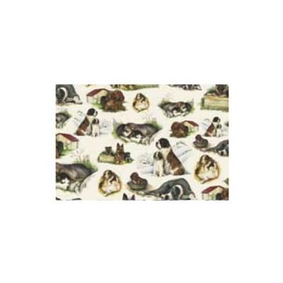 Декупажна хартия с мотиви, 40 g/m2, 50 x 70 cm, 1л, Кученца 1
