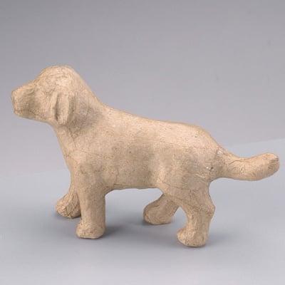 Фигура от папие маше, куче, 14,5 x 4 x 9 cm