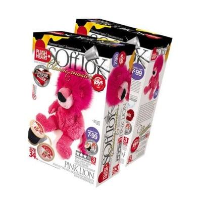 Креативен комплект PLUSH HEART «Pink lion»