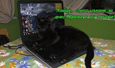 Вече заспиваме на компютъра ...