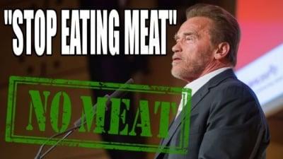 Арнолд Шварценегер и Джеймс Камерън излязоха с призив към всички хора за отказване от месото