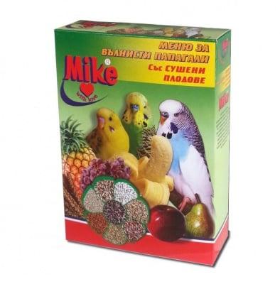 """Храна за вълнисти папагали със сушени плодове """"Mike"""" - 0,500 кг."""