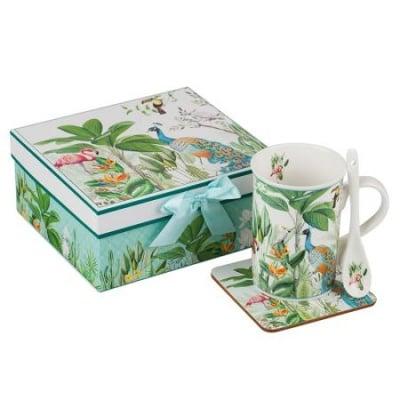 Фламинго сет кафе+лъжичка и чинийка