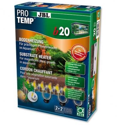 JBL ProTemp b20 - дънен нагревател, 2x2м кабел, 20W, за 80-100 см аквариум. Благоприятства образуването на корени и растеж на водните растения