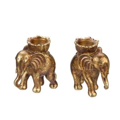 Свещник статуетка слон