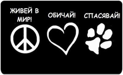 Живей в мир, обичай, спасявай!