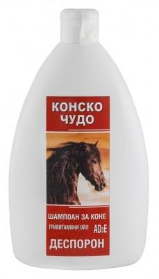 ШАМПОАН КОНСКО ЧУДО с ДЕСПОРОН - премахва косопада, себореята и кожните люспи, 250 мл.