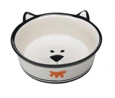 Керамична купа за котки с оригинална форма на коте - различни размери