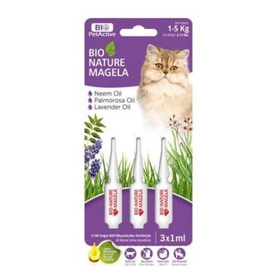 Bio-Nature spot-on за котки 3 бр. - намалява падането на козината, стимулира растежа и подхранва кожата в дълбочина