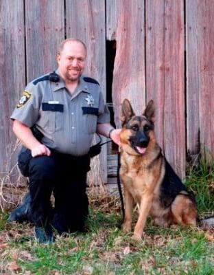 Полицейско куче немска овчарка