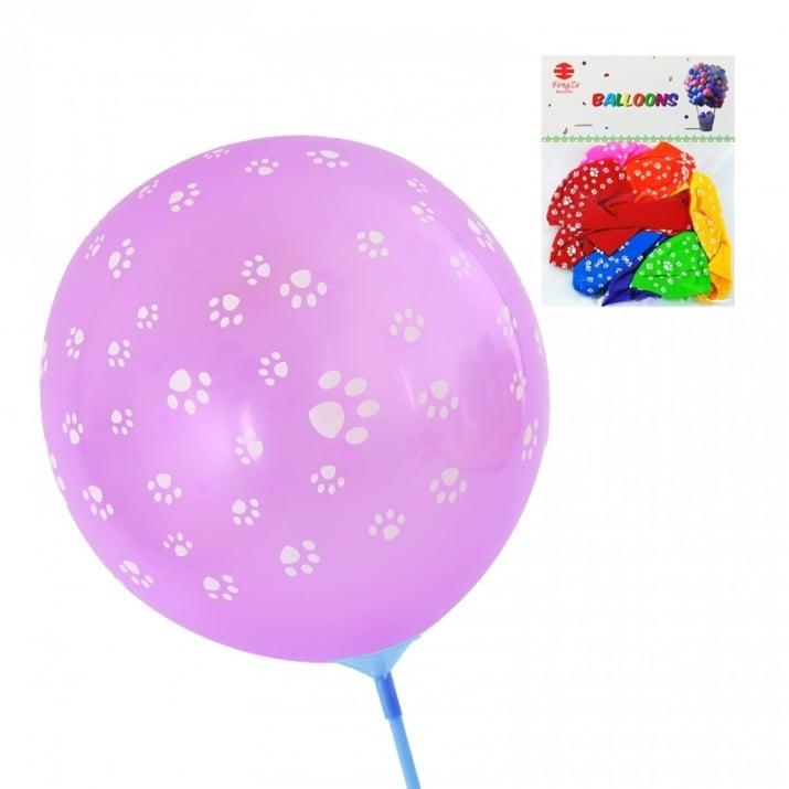 """Балони """"Лапички"""" /10 броя/"""