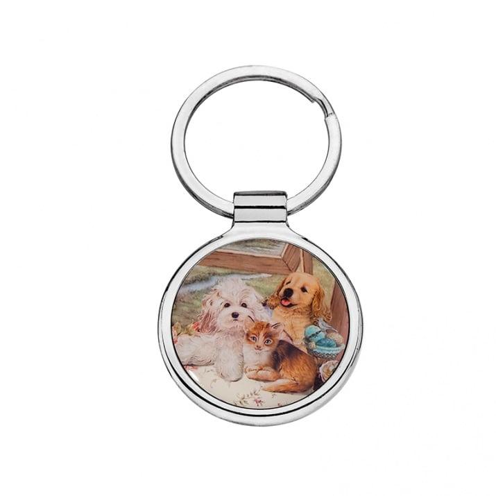 Стилен ключодържател с кученца