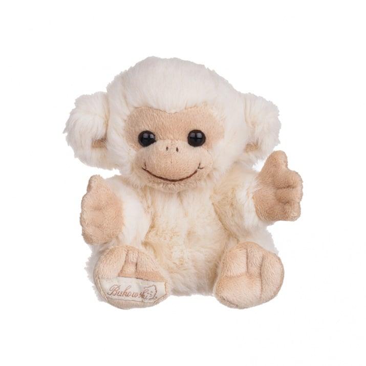 Плюшена играчка бяла маймунка, 15 см.