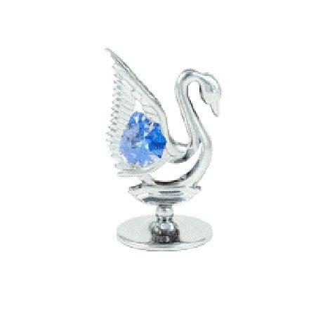 Фигурка лебед с компоненти Swarovski, сребро