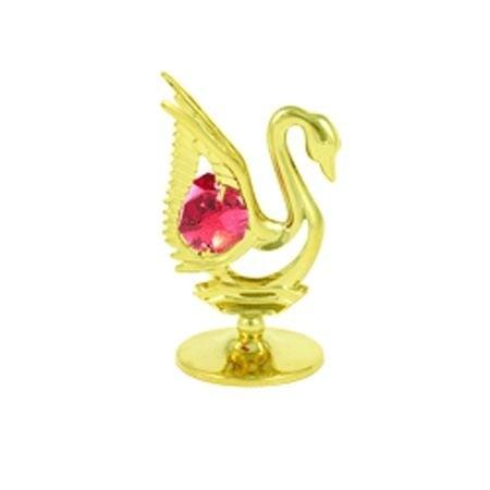 Фигурка лебед с компоненти Swarovski, злато