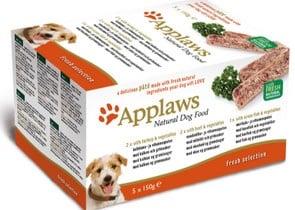 Applaws Dog Pate MP Fresh Selection- Turkey, beef, ocean fish - Пастети за кучета в различни вкусове - 5 х 150грApplaws Dog Pate MP Fresh Selection- Turkey, beef, ocean fish - Пастети за кучета в различни вкусове - 5 х 150гр