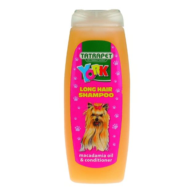 Шампоан с масло от норка и балсам за дългокосмести кучета, специално за йоркширските териери Tatrapet Long hair YORK, 200 мл