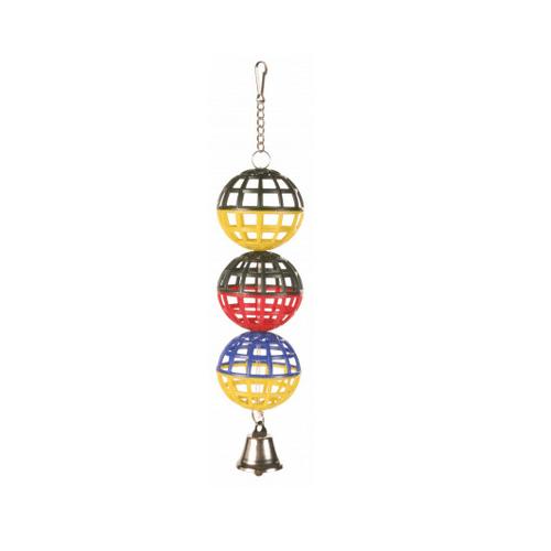 Играчка за птици - Решетъчни топки с звънче