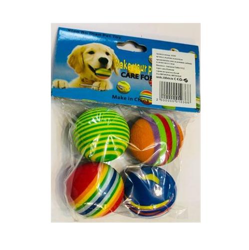 Играчка за куче/ коте топчета 4х4.2см