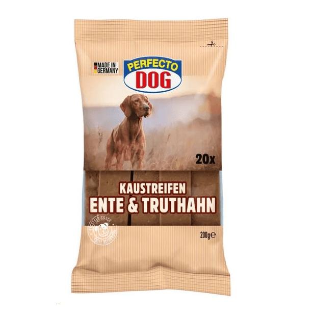 Дентални ленти за куче, Perfecto Dog, Патица и пуйка, 200гр