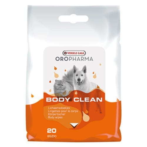 Почистващи и успокояващи кърпички за тяло за кучета и котки Versele-Laga Body Clean, 20бр