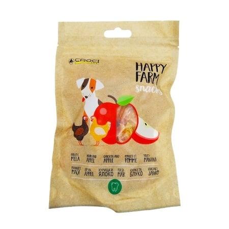 Лакомство за куче Croci HAPPY FARM, пиле и ябълки, 80гр