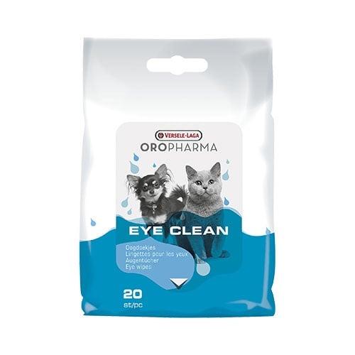 Почистващи и успокояващи кърпички, Versele-Laga Eye Clean, подходящи както за очите, така и за муцуната на котето и кучето, 20бр