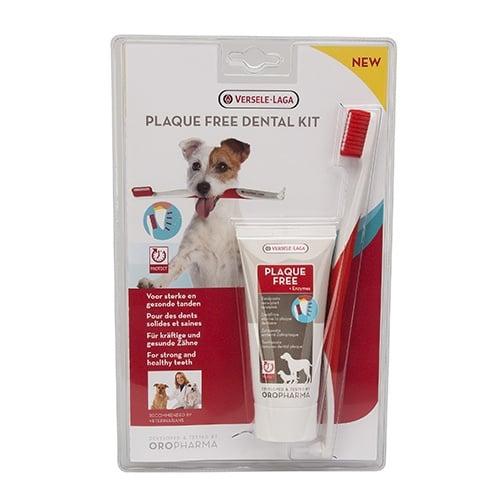Комплект за кучета четка и паста за зъби Versele-Laga Dental Care Kit, 70гр