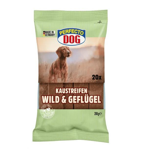 Дентални ленти за кучета, Perfecto Dog, Пиле и дивеч, 200гр