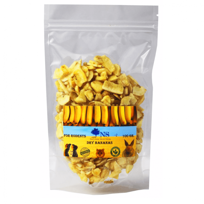 Сушен бананов чипс за гризачи Natural Selection, 100гр