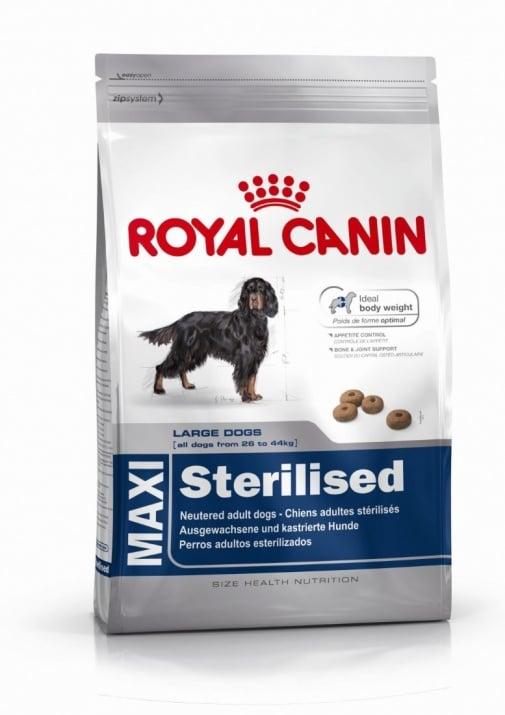 """""""Maxi Sterilised Adult"""" - Храна за кастрирани кучета от средни и едри породи, над 15 месеца и с тегло от 26 до 44 кг."""