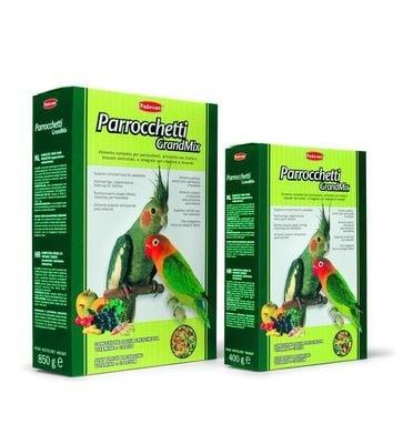 Пълноценна храна за средни папагали с плодове Padovan - 0.400кг; 0.850кг