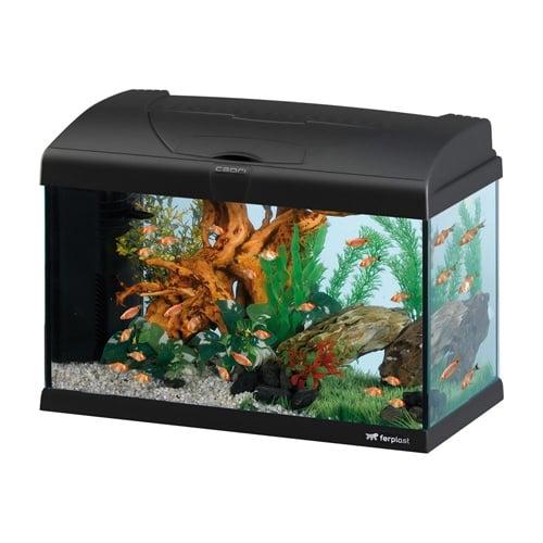Стъклен аквариум Ferplast CAPRI 50, 52x27 x вис: 36 cm; 40 литра, оборудван, два цвята