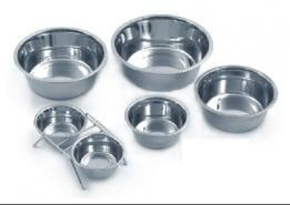 Купи за храна и вода с хромирано покритие за кучета и котки
