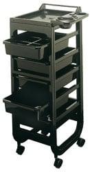 Кутия за инструменти пластмасова количка - черен цвят