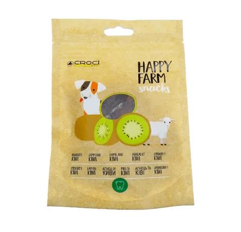 Лакомство за куче Croci HAPPY FARM, агне и киви, 80гр