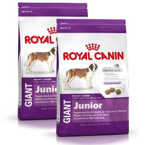 """""""Giant Junior"""" - Храна за кучета от гигантски породи на възраст от 8 до 24 месеца"""