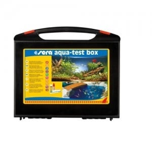 """""""Sera aqua test box"""" - Тестове за точното определяне на gH, kH, pH, NH4/NH3, NO2, Fe и PO4"""